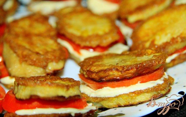 фото рецепта: Закуска из баклажан с помидорами