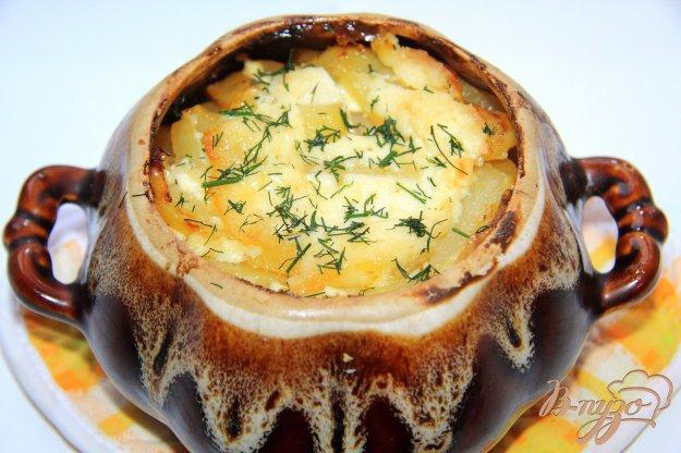 фото рецепта: Жаркое из свинины и картофеля с солеными огурцами