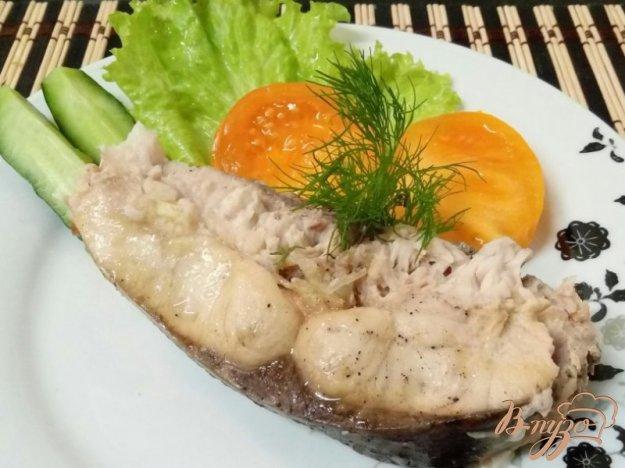 фото рецепта: Запечённая с молоком рыба в мультиварке с давлением