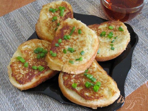 фото рецепта: Картофельные горячие бутерброды