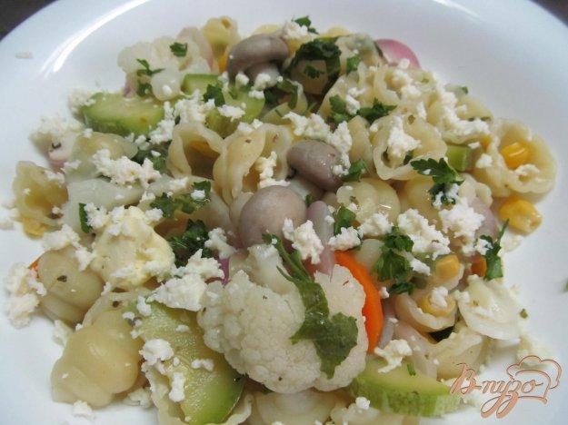 фото рецепта: Быстрый завтрак из овощей с пастой