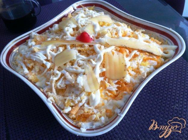 фото рецепта: Слоеный салат из помидор и сыра