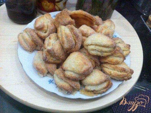 фото рецепта: Печенье из творожного теста с сахаром