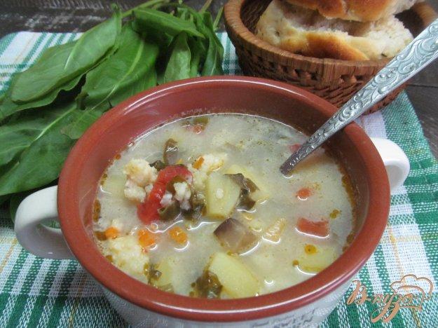 фото рецепта: Суп с пшеном и щавелем
