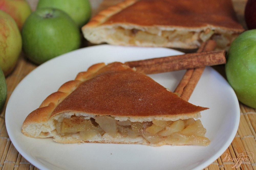 Дрожжевой пирог с яблоками и корицей рецепт с фото пошагово в духовке