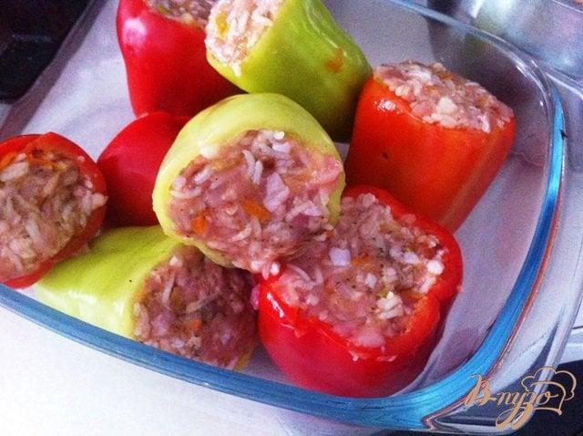 Перец фаршированный мясом фото пошаговым рецептом