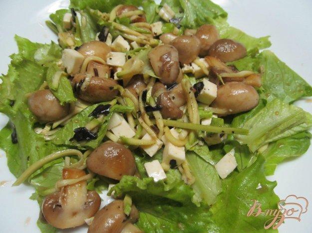 фото рецепта: Салат из шампиньона с кабачком