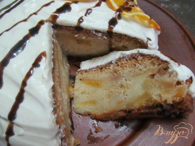 фото рецепта: Пирог с яблоком и апельсином