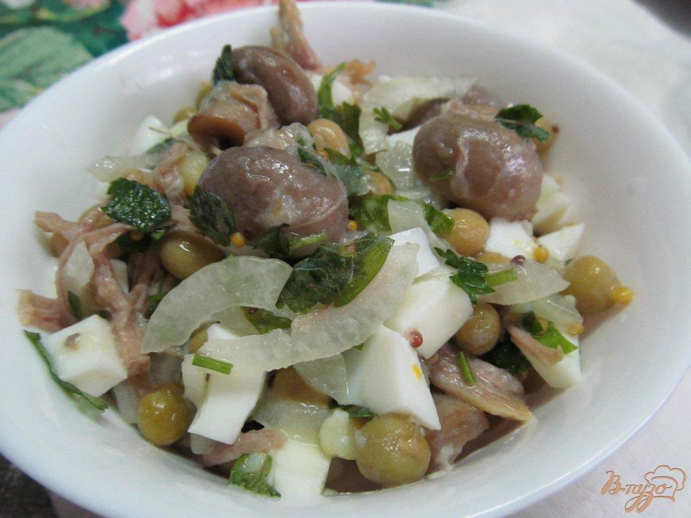 салат подсолнух с курицей и картошкой рецепт с фото