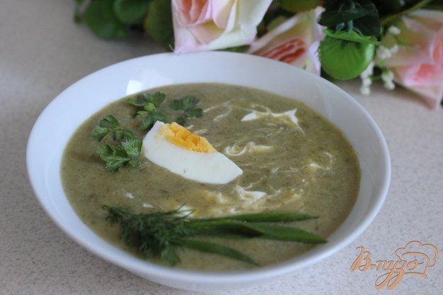 фото рецепта: Суп-пюре со щавелем и шпинатом