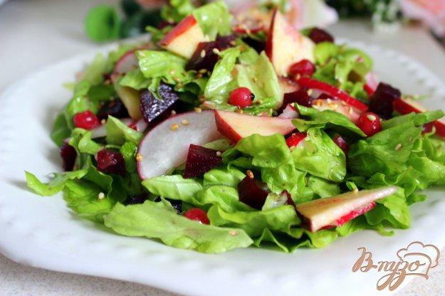 фото рецепта: Салат со свеклой, редисом и яблоком