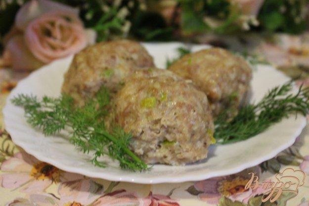 фото рецепта: Паровые куриные тефтели с овсяными хлопьями