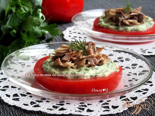 фото рецепта: Закуска из помидора с тунцом
