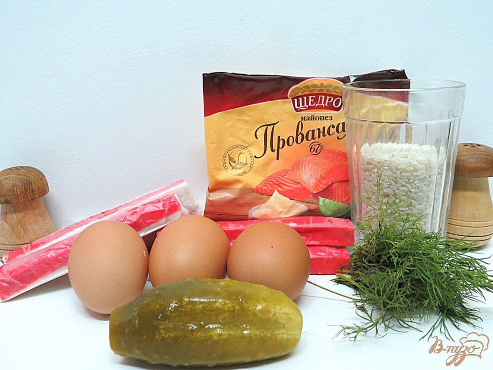 рецепт салат мимоза с крабовыми палочками рецепт с фото