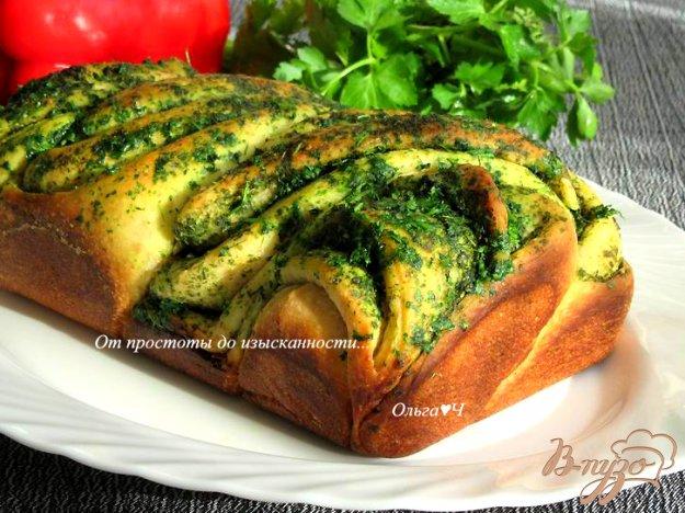 фото рецепта: Чесночный хлеб с зеленью