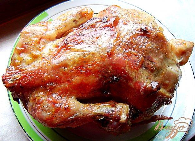 фото рецепта: Цыпленок на банке