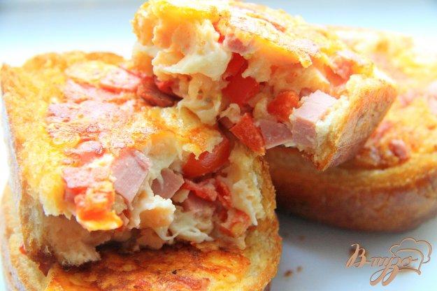 фото рецепта: Горячие бутерброды на сковороде