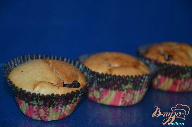 фото рецепта: Творожные кексы с яблоками и шоколадом