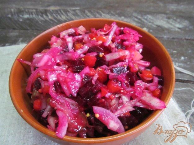 фото рецепта: Винегрет с редькой и оливками