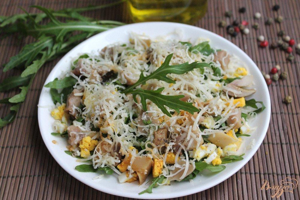 Быстрый салат с грибами с фото