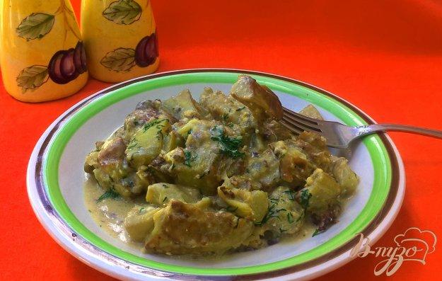 фото рецепта: Баклажаны в соусе из плавленого сырка