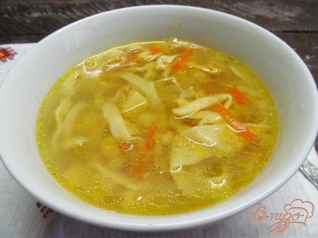 фото рецепта: Куриный суп с домашней лапшой