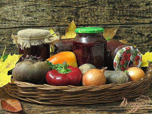 фото рецепта: Борщевая заправка с томатом на зиму