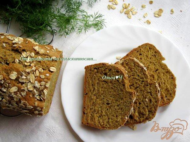 фото рецепта: Темный хлеб на кефире и сыворотке
