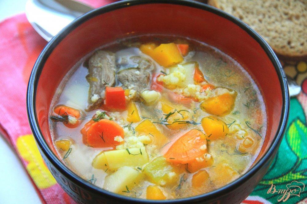 Суп с пшеном и говядиной рецепт пошагово