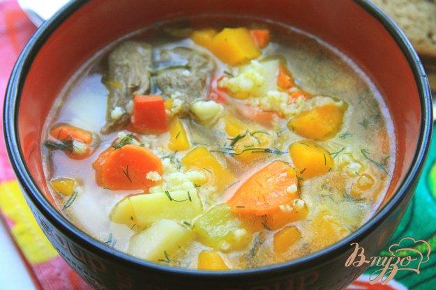 фото рецепта: Тыквенный суп с пшеном