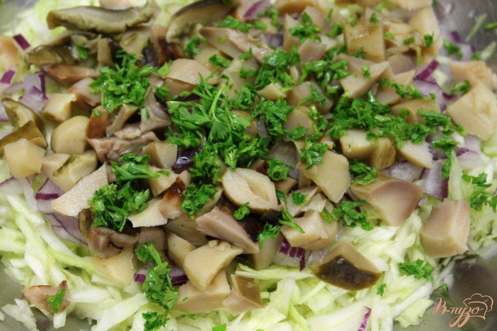 салат с грибами и луком рецепт с фото