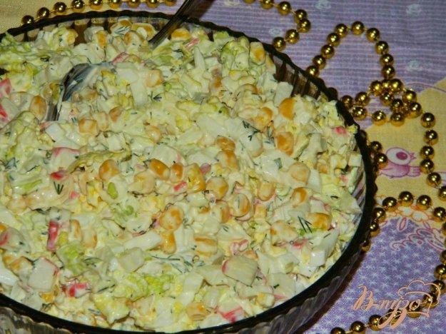 фото рецепта: Салат с кукурузой и пекинской капустой