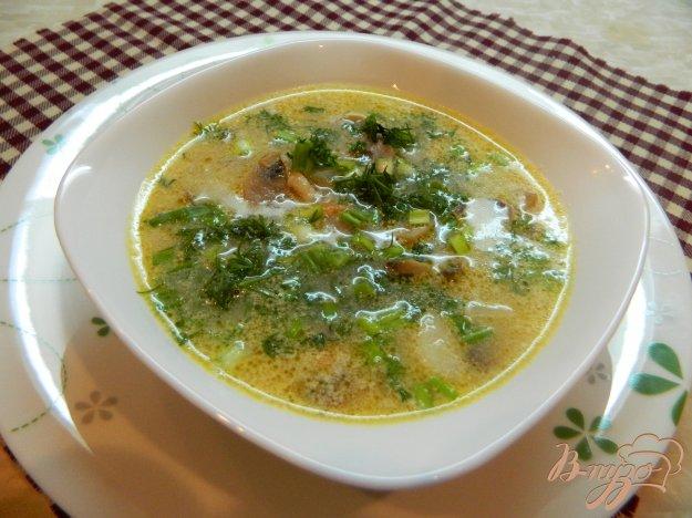 фото рецепта: Грибной суп со сливками
