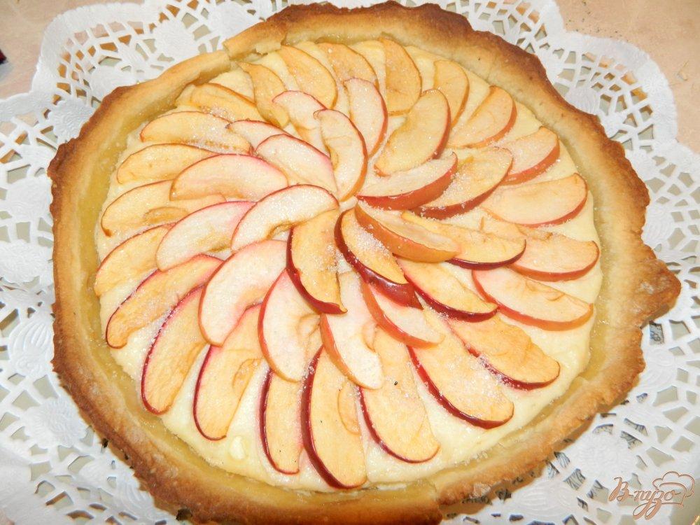 Рецепт открытого яблочного пирога с пошагово