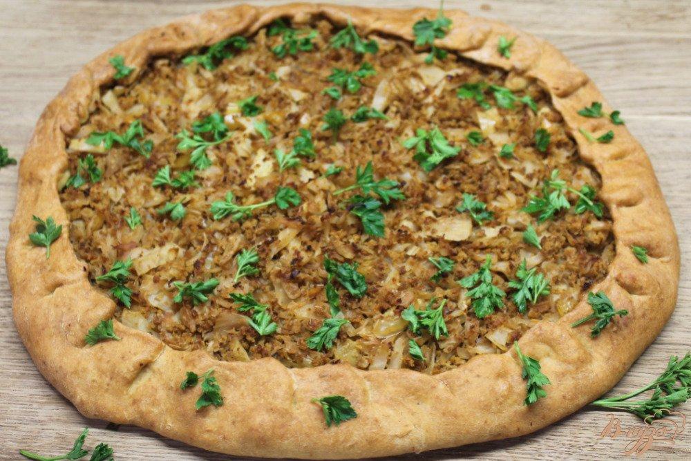Пирог с капустой и фаршем пошаговый рецепт