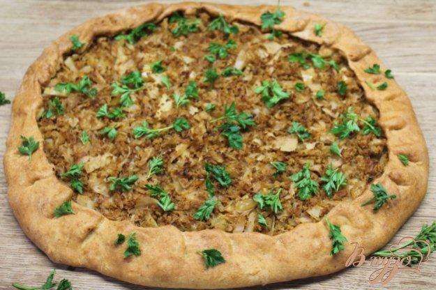 фото рецепта: Пирог с капустой и фаршем