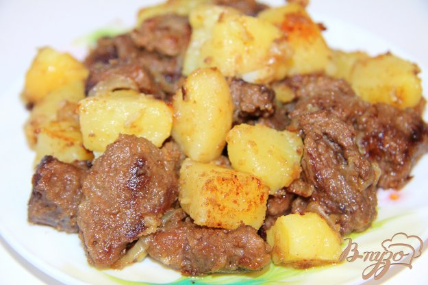 Жаркое из говядины с картошкой в духовке рецепт с пошагово
