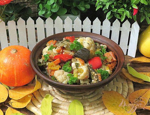 фото рецепта: Рагу из цветной капусты в мультиварке