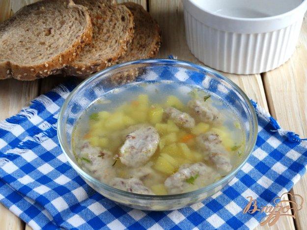 фото рецепта: Суп с гречневыми галушками-кнопками