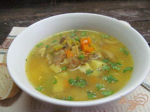 фото рецепта: Грибной суп с кукурузной крупой
