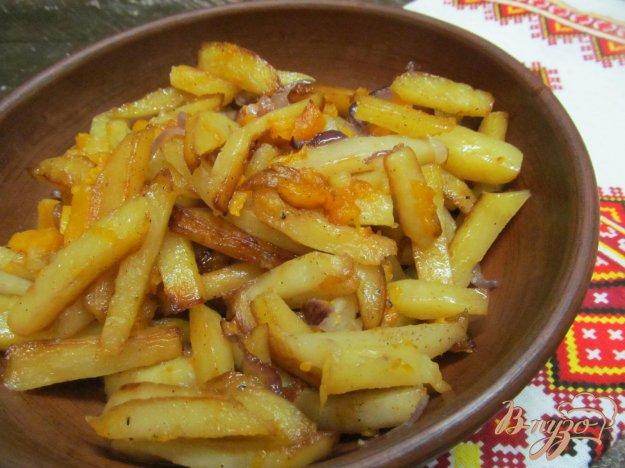 фото рецепта: Жареный картофель в тыквой