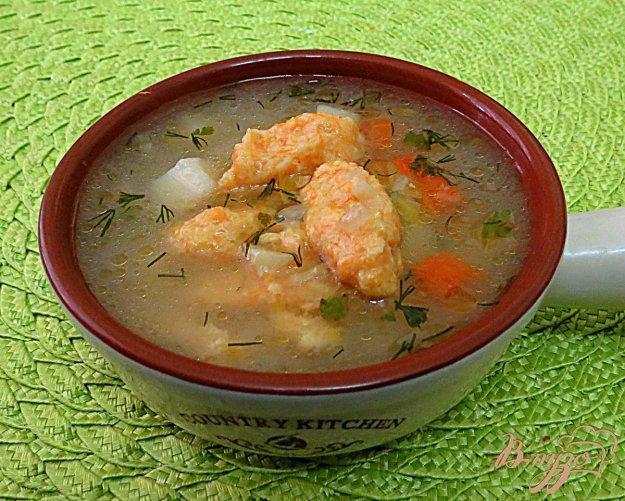 фото рецепта: Суп с галушками из тыквы