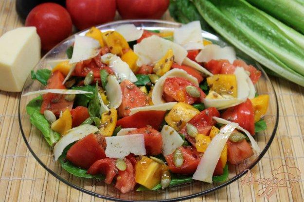 фото рецепта: Салат Ромен с помидорами и сыром