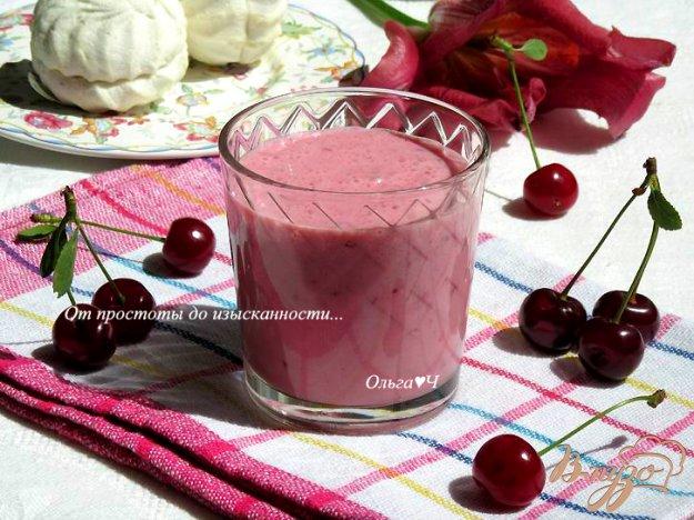 фото рецепта: Вишневый коктейль с зефиром