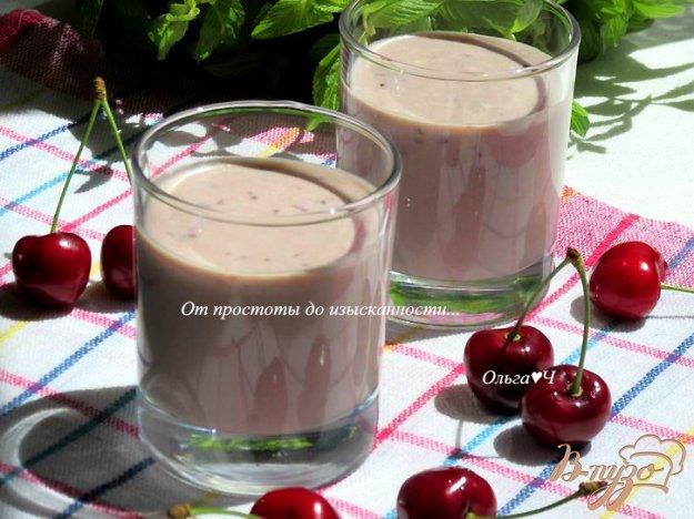 фото рецепта: Черешневый смузи с творогом