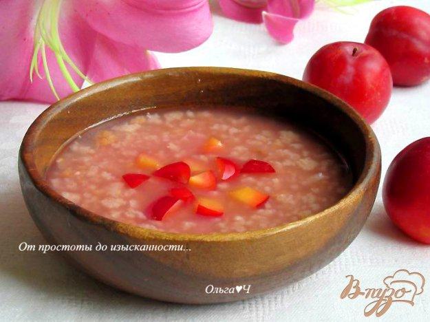 фото рецепта: Тюря из хлеба с вишневым сиропом