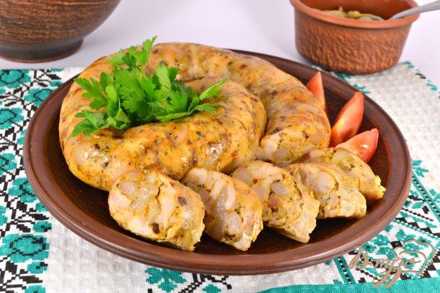 фото рецепта: Колбаса домашняя из курицы с прованскими травами и паприкой
