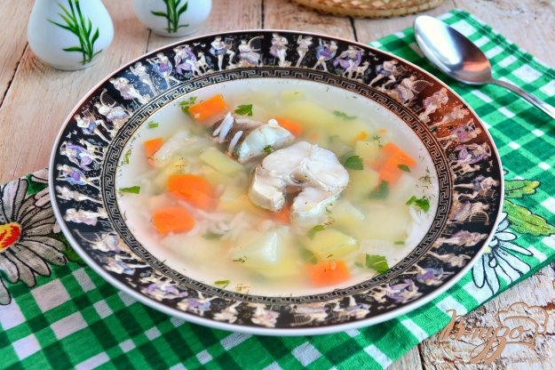 фото рецепта: Суп из молочного хека с рисом