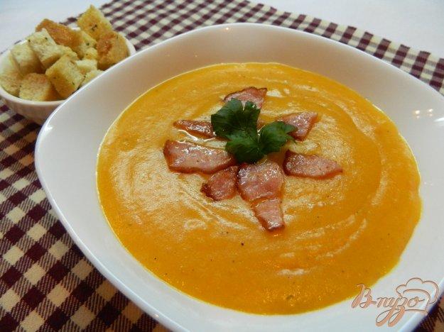 фото рецепта: Крем - суп из тыквы с балыком