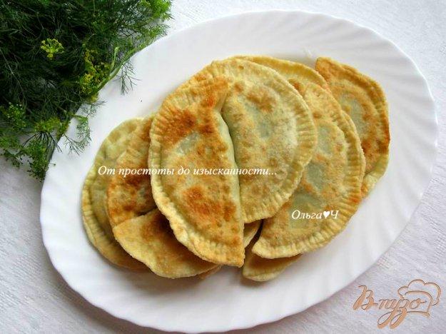 фото рецепта: Чебуреки с капустой и шпинатом